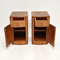 Pair of Art Deco Figured  Walnut Bedside Cabinets (10 of 10)
