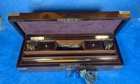 Victorian Rosewood Nickel Silver Bound Writing Box (10 of 16)
