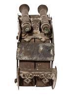 Twin Barrelled Bronze Miniature Cannon (4 of 5)