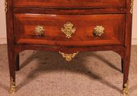 Small Curved Louis XV Commode / Chest of Drawers with Marble - 18th Century (3 of 15)