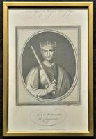 Rare Set of 12 Original 18th Century Engraving's of Kings & Queens of England (13 of 18)