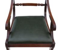 Set of 12 Regency Mahogany Dining Chairs 19th Century (2 of 8)