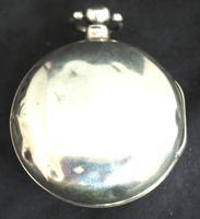 Antique Silver Pair Case Pocket Watch Fusee Verge Escapement Key Wind Enamel Dial Richardson London (10 of 13)