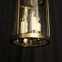French Gilded Triple Light Antique Lantern (5 of 7)