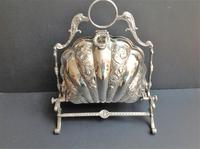 Antique Victorian Silver Plated Folding Biscuit Box (3 of 5)