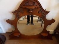 A lovely Mahogany Round Bevel Edged Mirror 1860's? (3 of 6)