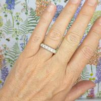 Vintage 18ct White Gold Seven Stone Diamond Half Eternity Wedding Band 0.85ct (3 of 9)