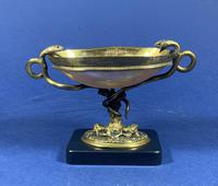 Russian 19th Century Gilt Bronze Tazza Shell on a Marble Base (13 of 14)