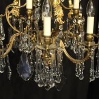 French Pair Bronze 12 Light Antique Chandeliers (4 of 11)