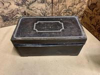 English Regency Leather Camphor Wood Trunk (2 of 5)