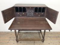 Antique Oak Carved Desk (4 of 13)