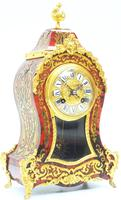 Wow! Phenomenal French Boulle Mantel Clock Ormolu Inlay 8 Day Visible Pendulum Mantle Clock (2 of 10)