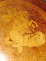 Italian Sorrento Walnut Inlaid Tripod Table (6 of 8)