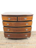 Quality 20th Century Bow Front Mahogany Chest of Drawers (6 of 12)