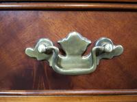 Reproduction Carved Mahogany Kneehole Pedestal Desk (10 of 11)