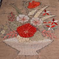 Pair of Antique Decorative Panels, Chinese, Embroidered Silk, Victorian c.1880 (4 of 9)