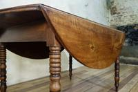 19th Century French Chestnut Circular Drop Leaf Table (8 of 10)