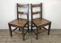 Pair of Antique Oak Bar Back Farmhouse Chairs (13 of 14)