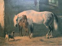 Aft: Emil Volkers Beautiful Vintage Framed Equestrian Print On Board (7 of 12)