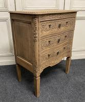 French Bleached Oak Chest of Drawers (4 of 12)