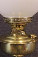 Brass Oil Lamp Opal White Shade (5 of 6)