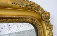 Large 19th Century Victorian Gilt Overmantle Mirror (4 of 14)