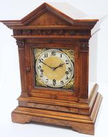 Incredible Burr Walnut Mantel Clock Westminster Chime Musical Bracket Clock Chiming on 5 Coiled Gongs (3 of 5)