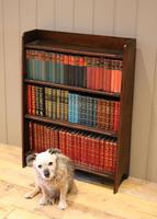 Small Graduated Open Oak Bookcase (10 of 10)