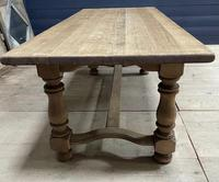 Deep Bleached Oak French Farmhouse Dining Table (9 of 20)