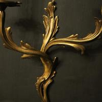 French Pair of Gilded Antique Wall Sconces (10 of 10)