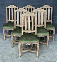 Set of 6 French Oak Farmhouse Dining Chairs (2 of 10)