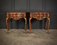 Pair of Dutch Marquetry Inlaid Serpentine Card Tables (2 of 18)