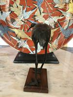 Antique Pair of Japanese Bronze Metal Crane Sculptures (5 of 12)