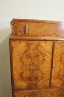 Burr Walnut Art Deco Tallboy Chest of Drawers (8 of 12)