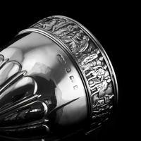 Antique Solid Silver Goblet / Cup with Roman Frieze - Elkington & Co 1902 (12 of 16)