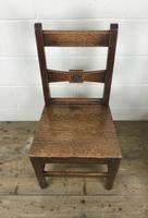 Pair of Antique Oak Bar Back Farmhouse Chairs (7 of 14)