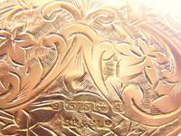 World War I Era Hallmarked Gold Locket 1915 on 17 Inch Chain (10 of 11)