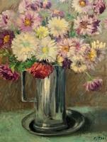 Lovely Original Early 20thc French Impressionist Still Life Floral Oil Painting (5 of 12)