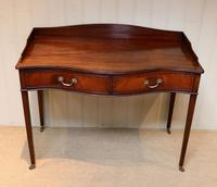Mahogany Serpentine Front Side Table (5 of 10)