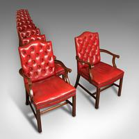 Set Of 10 Antique Gainsborough Chairs, English, Leather, Carver, Edwardian, 1910 (8 of 12)
