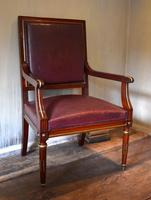 Pair of French Directoire Leather Armchairs (8 of 16)