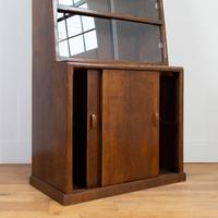 1930s Vintage Oak Glazed Bookcase Cabinet (3 of 16)