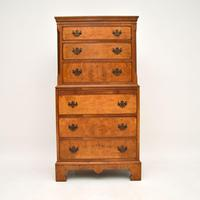 Antique Burr  Walnut Chest on Chest of Drawers (2 of 11)