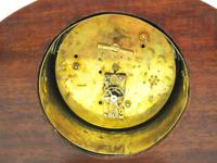 Fine Edwardian Mahogany Arched Clock Multi Wood Inlay Timepiece Mantel Clock (9 of 9)