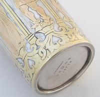 Victorian gothic electro-type and gilt beaker Elkington & co Birmingham 1877 (4 of 9)