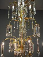 Edwardian Gilded and Glass Chandelier (7 of 13)
