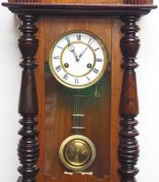 Victorian 8-day Wall Clock – Antique Striking Vienna Wall Clock by Hac (6 of 14)