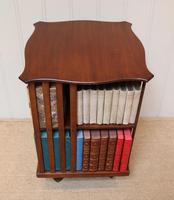 Edwardian Small Proportioned Low Mahogany Revolving Bookcase (9 of 10)