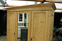 Superb! Old Triple Door 'Knock Down' Pine Combination Wardrobe - We Deliver! (10 of 11)