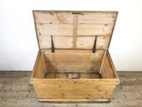 Large Victorian Antique Pine Trunk (5 of 14)